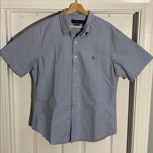 Ralph Lauren Collar Polo - Baby Blue (XL Slim Fit)